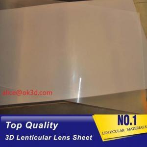 Buy cheap Offset press machine 0.18mm 200 Lpi, 51x71cm 3D Film Lenticular Lens Sheet for UV offset printer annd injekt prin product