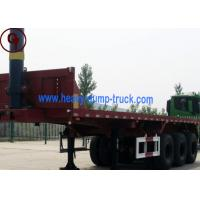 China 3 Axle 40FT Flatbed Semi Trailer Truck in Customers' Optional Color on sale
