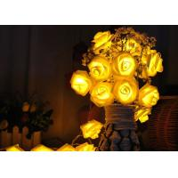 Buy cheap Red / Warm White Battery Operated LED String Lights , Rose Flower String Lights product