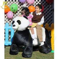 China Hansel  plush moving animal car kids battery powered motorized animals in mall on sale