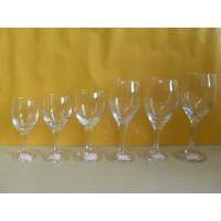 China brand, whiskey, champange Drinking Logo Printing glassware, clear Blown Goblet Wine Glass on sale