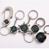 China New creative gift product metal compass keychain keyrings on sale