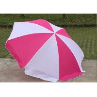 Buy cheap Foldable Pink And White Outdoor Sun Umbrellas Nylon Material With Steel Frame product