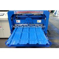 Buy cheap Effective Metal Roof Glazed Tile Roll Forming Machine 4m / Min ISO product