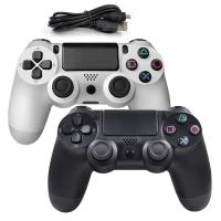 China Hot wired controller for Playstation 4 usb wired gamepad for PlayStation 4 Black and White on sale