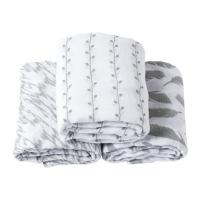 Buy cheap OEM 100% Cotton Baby Swaddle Blankets 2 Layer After Washed 3 Pcs / Box Packing from wholesalers