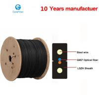 Buy cheap One Core Indoor Drop Cable Bow-type GJXH Steel Wire Optical Fiber Cable product
