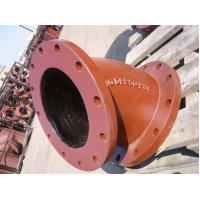 Buy cheap Red epoxy coating Ductile iron fittings Double Socket Bend Double flange bend from wholesalers