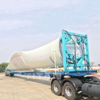 Buy cheap 52m Extendible Trailer Extendible Trailer for transport windmill turbine blade and wind power section product