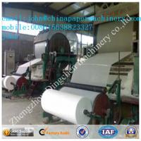 Buy cheap 787mm 1T/D toilet paper making machine with waste paper as material product