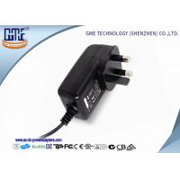 Buy cheap Black 3 Prong 24W 2A 12 volt ac dc adapter With CE Certified product