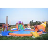 Buy cheap 20m Giant Portable Inflatable Water Park Slide With Pool For Commercial Use product