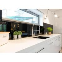 Buy cheap Super White Nano Coloured Glass Kitchen Worktops / Bath Nanotech Matte from wholesalers