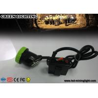 Buy cheap 50000 Lux strongbrightness LED Mining Cap Lights Explosion proof 5w 11.2Ah Li ion Battery product