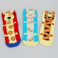 Buy cheap Customized Colorful Kids Novelty Socks With Cute Tiger / Dog Cartoon Animal Patterns product