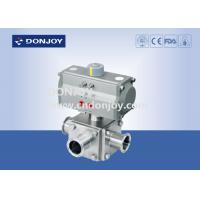 China Sanitary Ball Valve Aluminum pneumatic actuator three-way non-retention L type and full port on sale