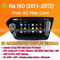 Buy cheap Android Car DVD Player GPS Navigation Wifi 3G for Kia RIO 2011 2012 Bluetooth Touch Screen product