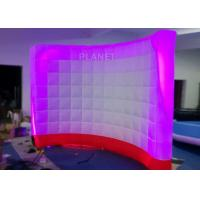 Buy cheap 3 Meter Led Inflatable Wall 210 D Reinforce Oxford Material Logo Printing product