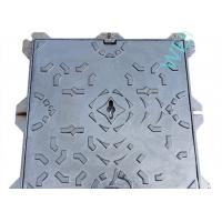 Buy cheap Heavy Duty Ductile Iron Manhole Cover Frame Square Water Soluble Black Paint product