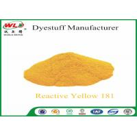 Buy cheap C I Reactive Yellow 181 Reactive Dyes Yellow P-RRN Chemicals In Pad Dyeing product