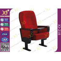 Buy cheap Solid Rubber Wood Armrest Audience Seating Chairs Fire Retardant Fabric product