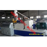 Buy cheap 380V 50HZ Plastic Profile Production Line / PVC Profile Extrusion Line from wholesalers