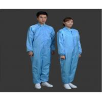 Buy cheap Safety Clean Room Garments Stand Collar ESD Coverall For Printing Industry product