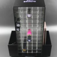 Buy cheap Acrylic Makeup Organizer for Cosmetics Compartment Plexiglass Rotating Lipstick Display product