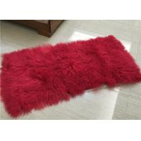 Buy cheap Long Hair Curly Sheep Fur throw Mongolian Tibetan Lambswool Blanket bed throw from wholesalers