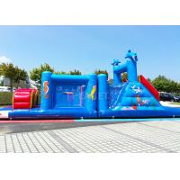 Buy cheap 14 M Long Inflatable Tunnel Outdoor Obstacle Course Equipment Electric Blower product