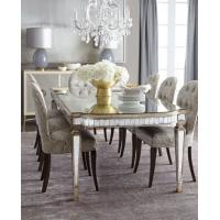 Buy cheap Luxury Mirrored Dining Table With Grey Wooden Chair  8 Person Seats product