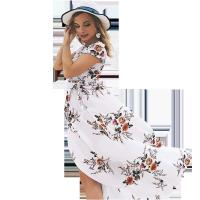 Buy cheap Holiday Beach Women'S Short Sleeve Casual Dresses 100% Polyester product