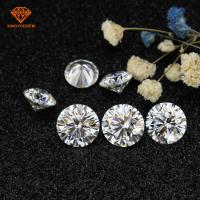 Buy cheap High quality E-F pure white color round loose 1 carat 6.5mm moissanite diamond for engagement rings from wholesalers