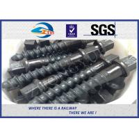 Buy cheap Customized Railroad Screw spike for railway fastening system construction product
