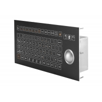Buy cheap IP67 Omron Switch Industrial Membrane Keyboard 38.0mm Trackball product