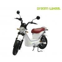 China White Color Pedals Assist Electric Scooter Bike For Adults , 500w Brushless Controller on sale
