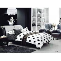 Buy cheap 100 Percent Polyester Girls Bedroom Bet Sets Black And Whtie Striped Bedding product