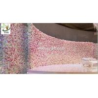 Buy cheap UVG 16ft long curved artificial flower backdrop wall in silk roses for wedding from wholesalers