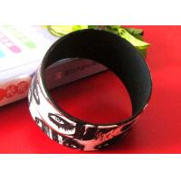 CMYK Printing Logos Adult Size White Silicone Rubber Wristbands Bracelets