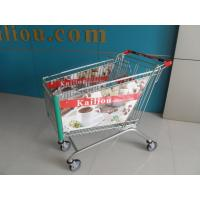 Buy cheap 180L Acrylic Advertisement Supermarket Shopping Trolley 4 Wheels ISO9001 - 2008 product