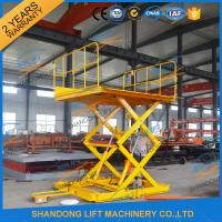 Buy cheap 600KGS 2M Warehouse Hydraulic Cargo Scissor Lift with Movable Wheels product