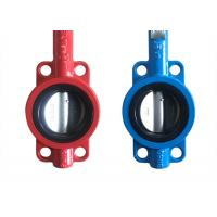 Buy cheap API609 Butterfly Ductile Iron Valves Body Cast Flange Valves Seal Test product