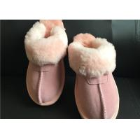 Buy cheap AUSTRALIA kids Sheepskin Slippers Chestnut Winter Warm Indoor Shoes from wholesalers