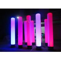 Buy cheap Colorful Inflatable Column Built In Blower With Led Light / Repair Kit product