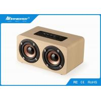 Buy cheap Portable Wooden Wireless Speakers , Wood Grain Bluetooth Speaker Stereophonic Sound from wholesalers