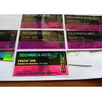 Buy cheap Pharmaceutical Hologram Vial Label , Paper Anabolic Steroid Vial Labels from wholesalers