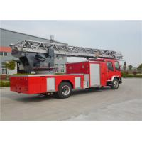 Buy cheap Six Seats Aerial Ladder Fire Truck ISUZU Chassis Water Cooled Diesel Engine product
