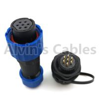 Buy cheap Industrial IP68 Plastic Electrical Connectors SD16 TP-ZM 2 - 9 Pin Panel Mounting Connector product