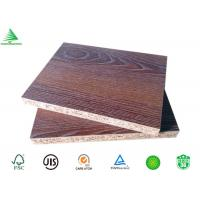 Buy cheap Good quality formaldehyde free 4'X8' embossed finished teak MFC board 18mm product