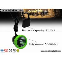 Buy cheap 1500mA 3.7V Rechargeable LED Headlamp Mining Safety Lamp IP67 Waterproof from wholesalers